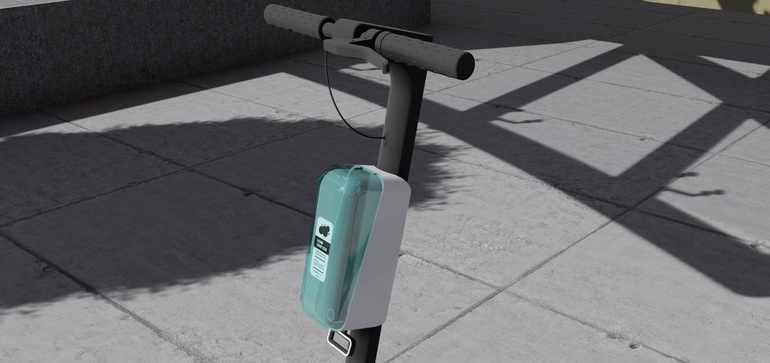 Young entrepreneurs dream up IoT-powered scooter sanitization system