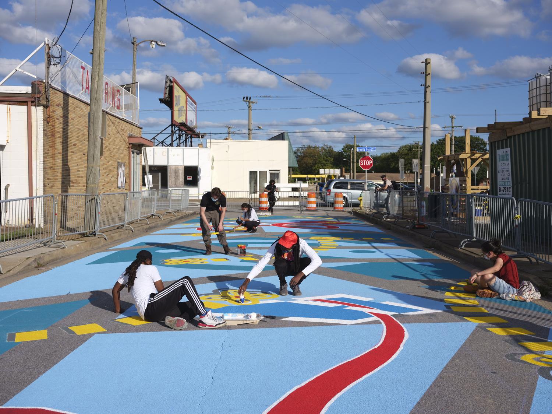 asphalt art